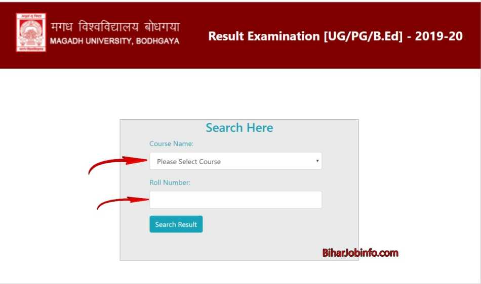 Magadh University Result Check Link