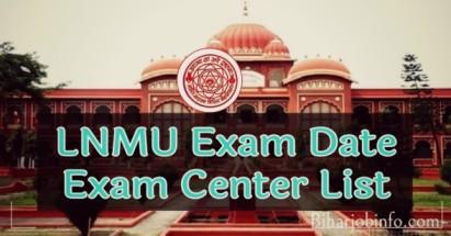 LNMU Exam Date