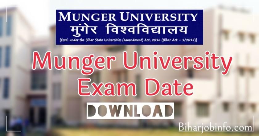 Munger University Exam Date