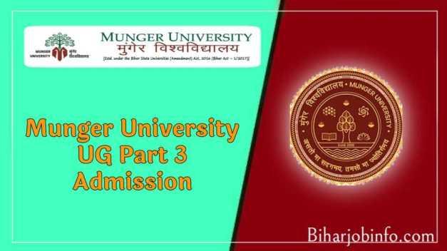 Munger University UG part 3 Admission
