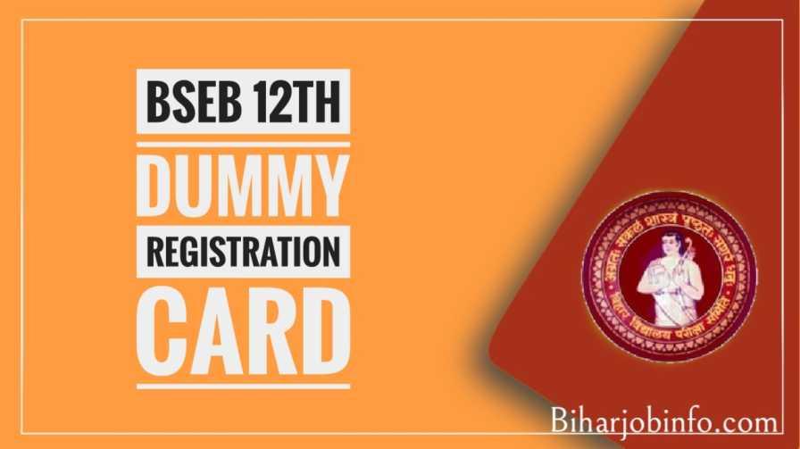 bseb 12th dummy registration card